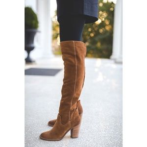 Dolce vita suede ohanna cognac over knee boots 7.5